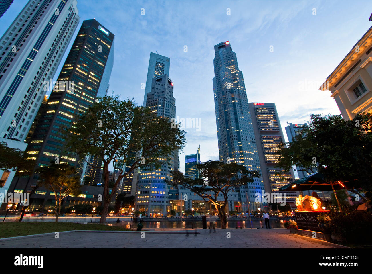 Asia singapur skyline panorama Stock Photo