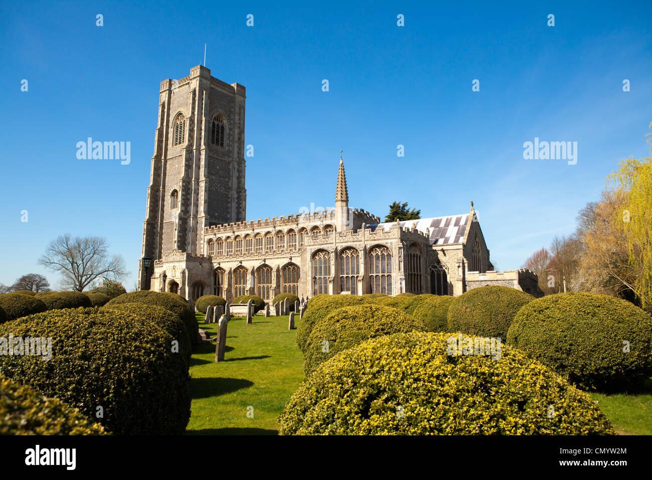 St Peter and St Paul's Church, Lavenham, Suffolk, UK - Stock Image