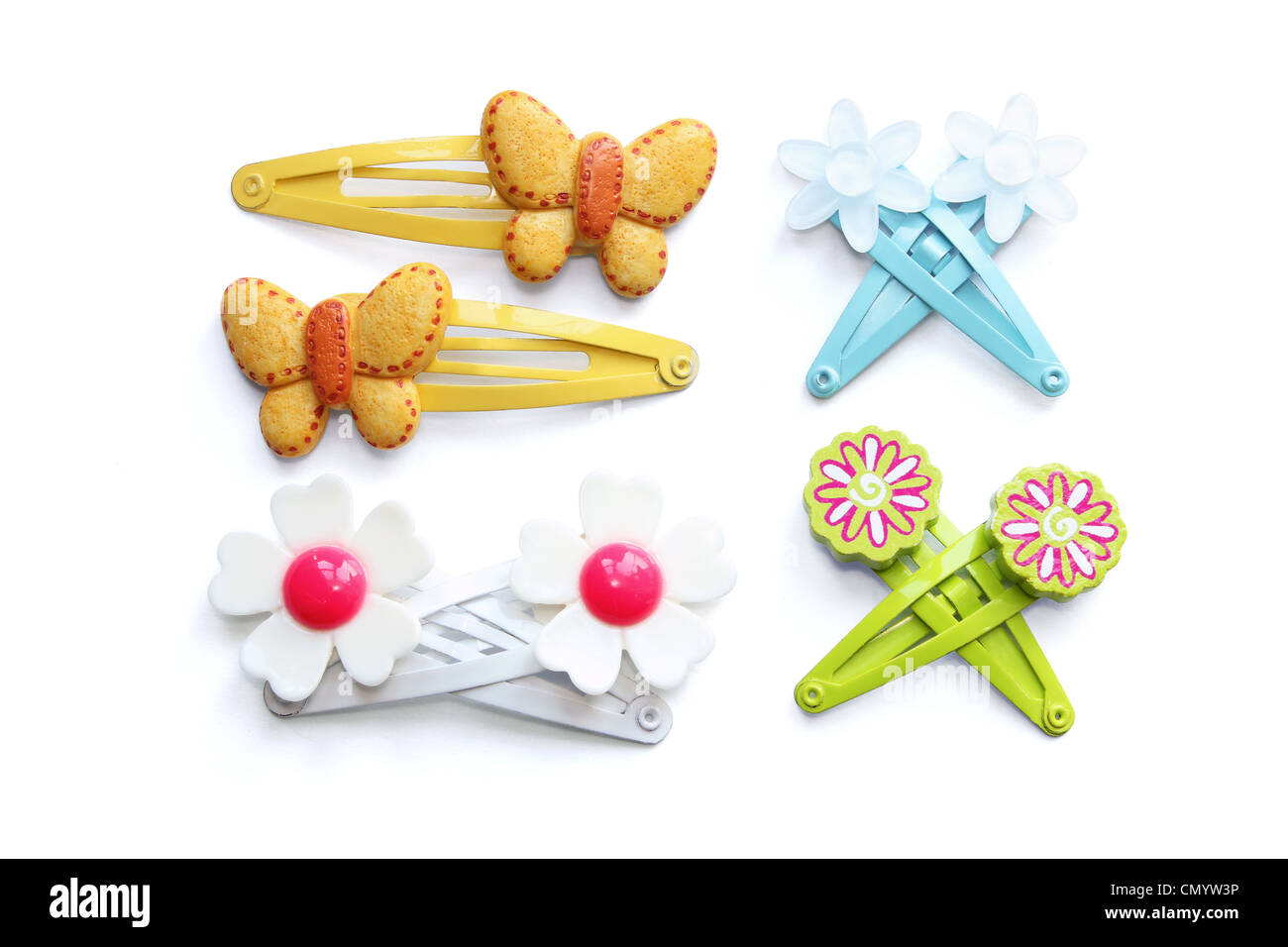 Hair Clips - Stock Image