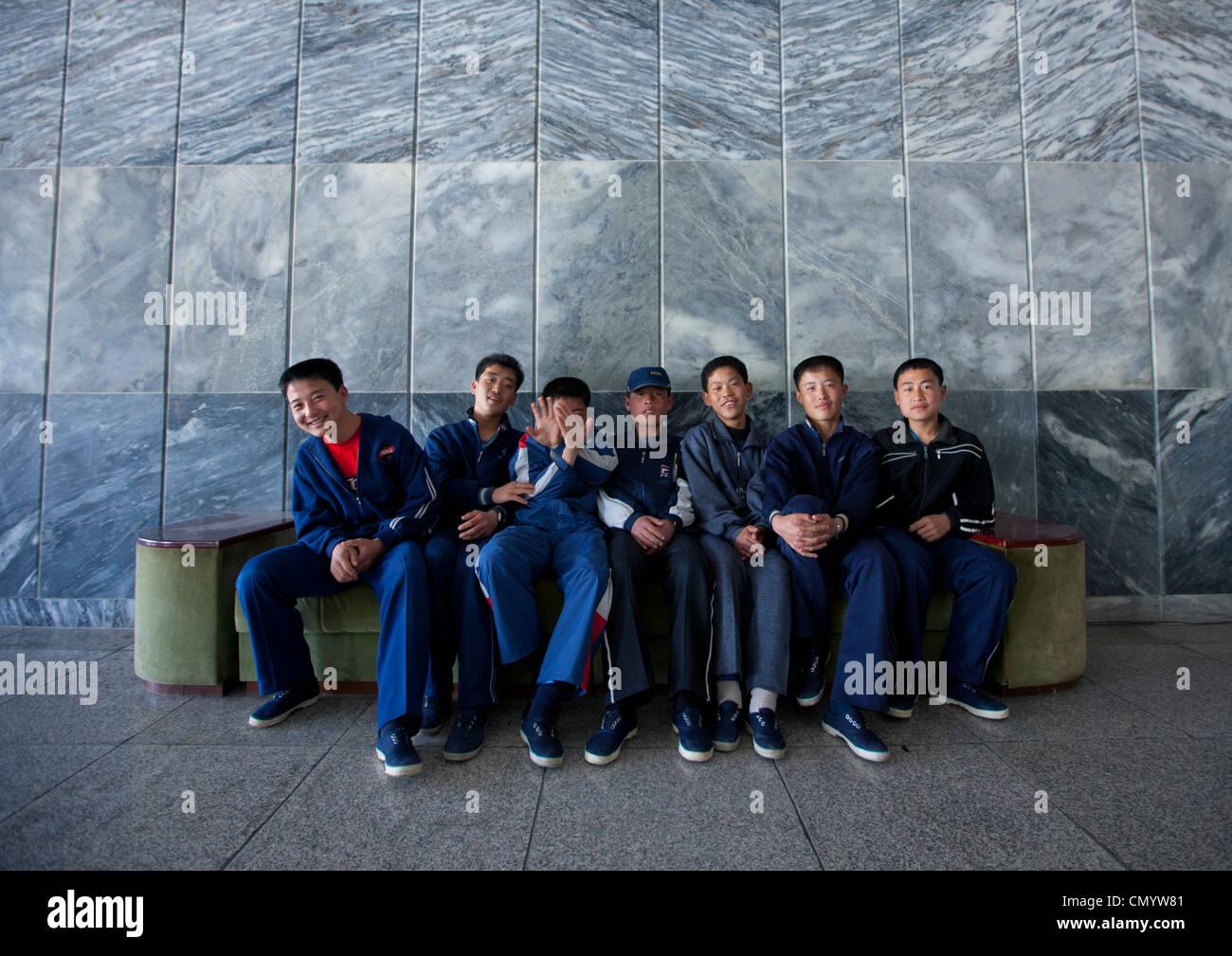Songdowon International Children in Wonsa, North Korea - Stock Image