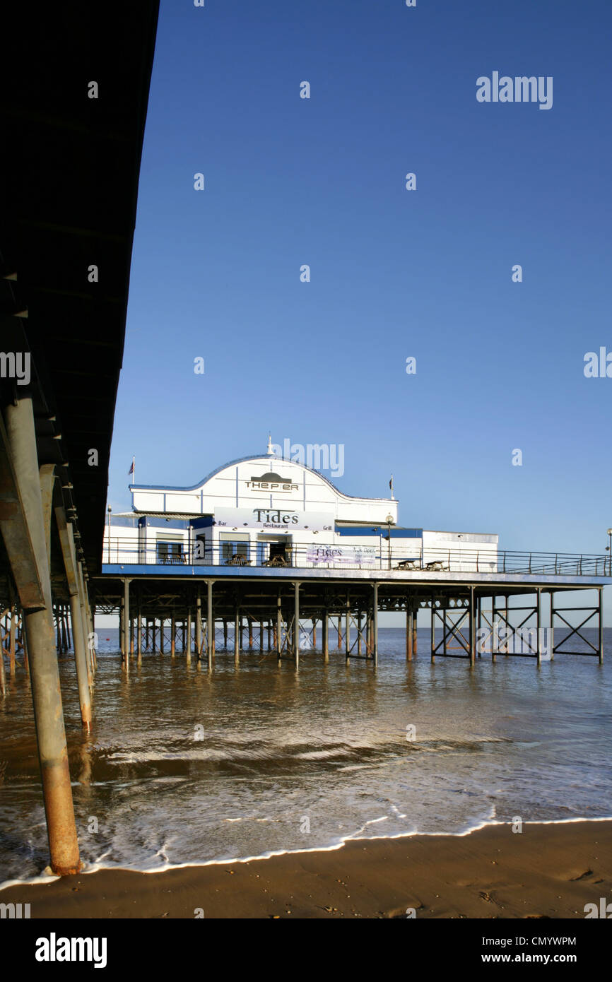 Cleethorpes Pier, North East Lincolnshire. - Stock Image