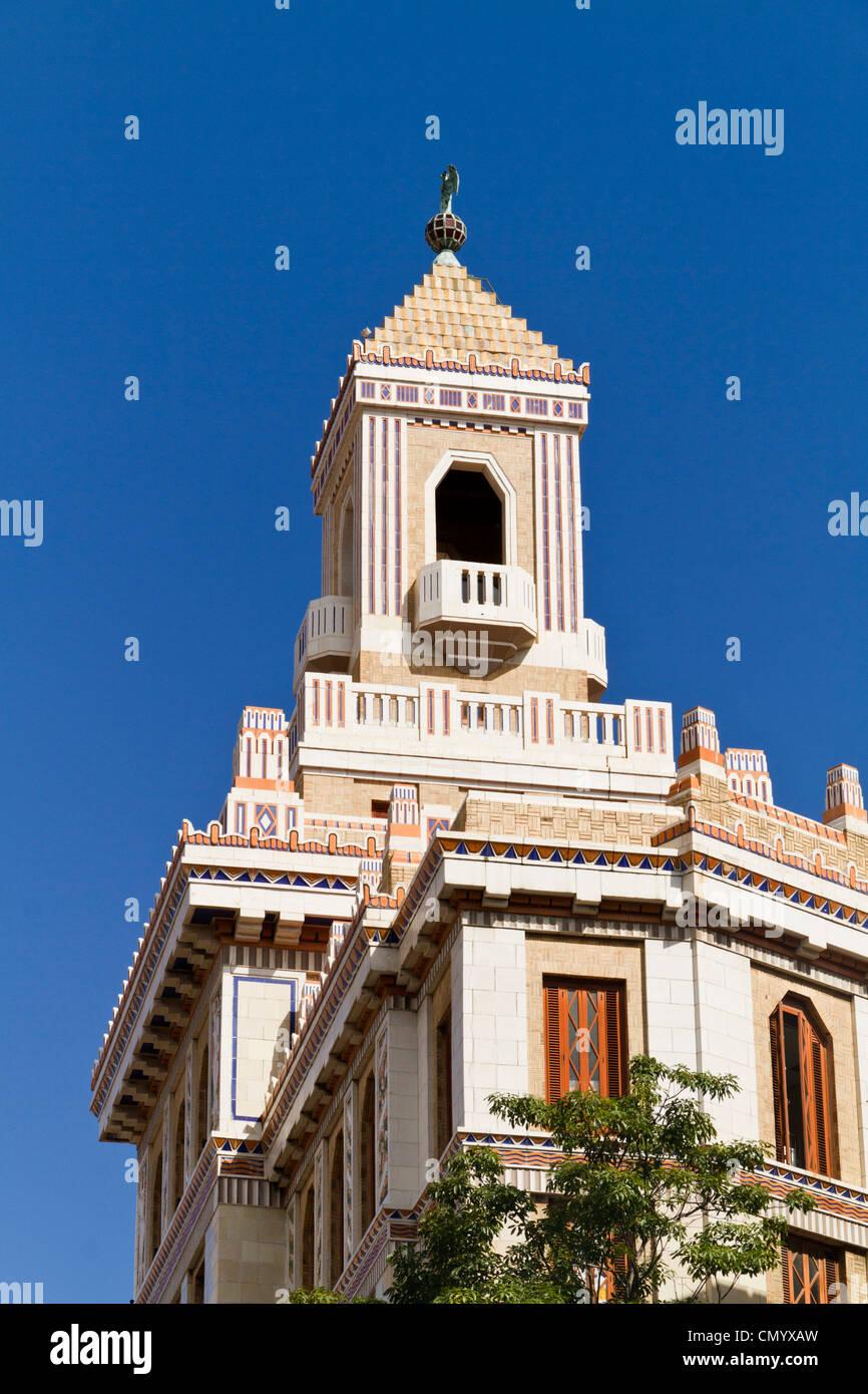 Barcadi Tower, Havanna Vieja, Cuba, Greater Antilles, Antilles, Carribean, West Indies, Central America, North America, Stock Photo