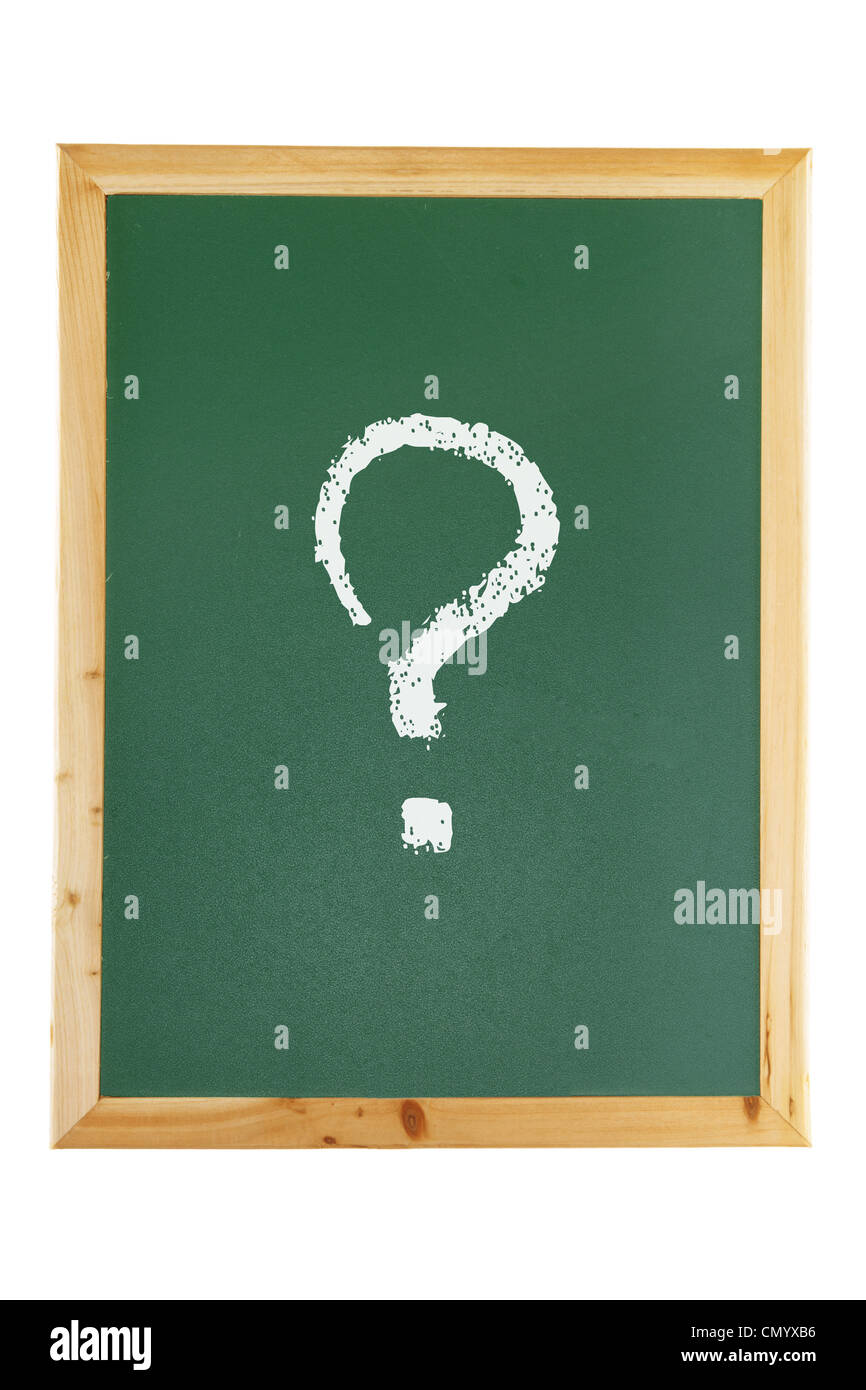 Blackboard with Question Mark - Stock Image