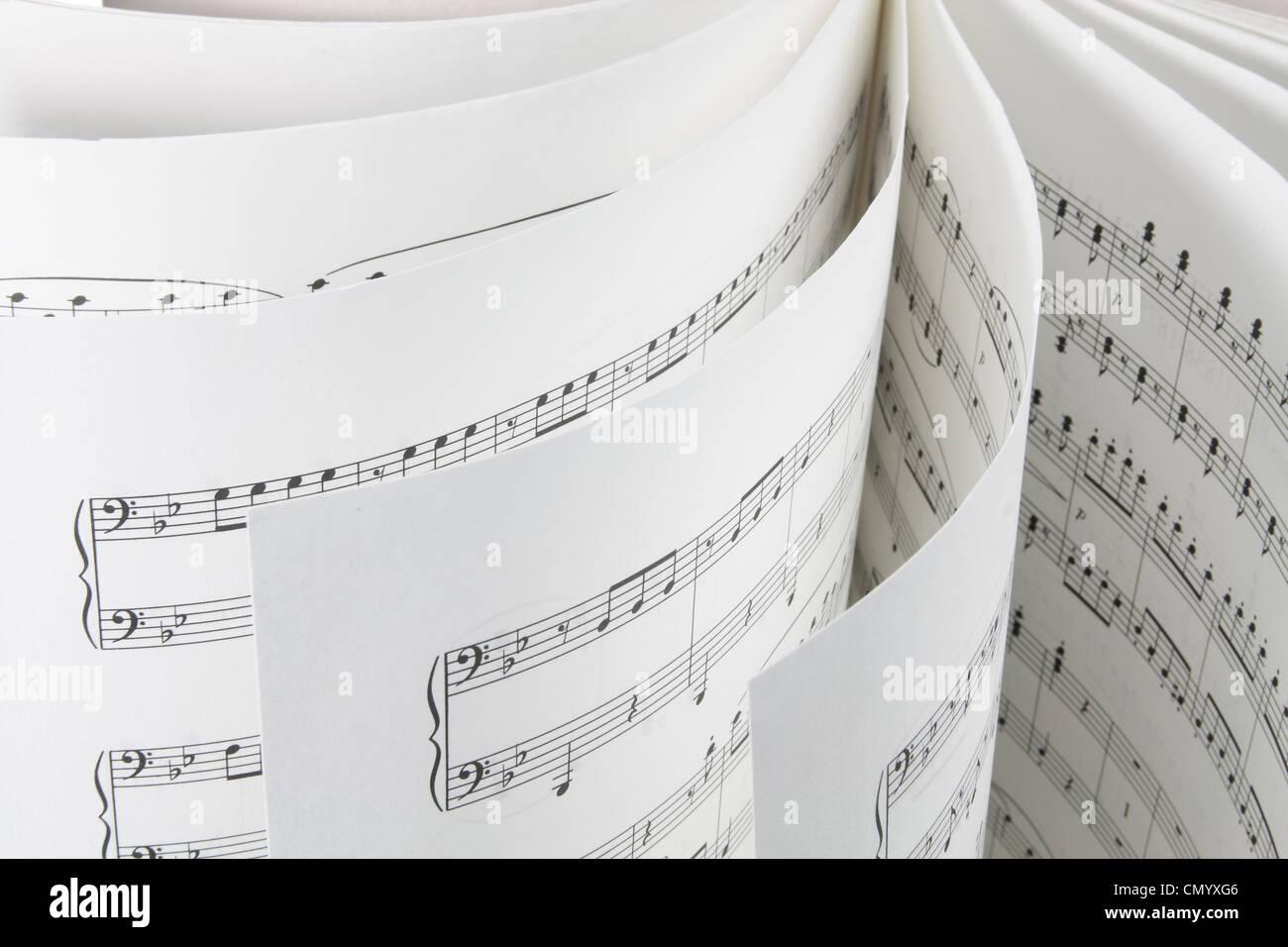 Music Score - Stock Image