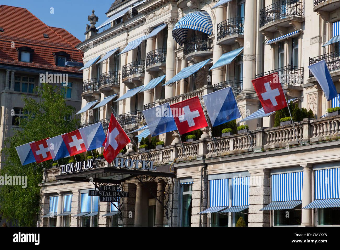 Hotel Eden au Lac, near Zurich lake promande, Zurich - Stock Image