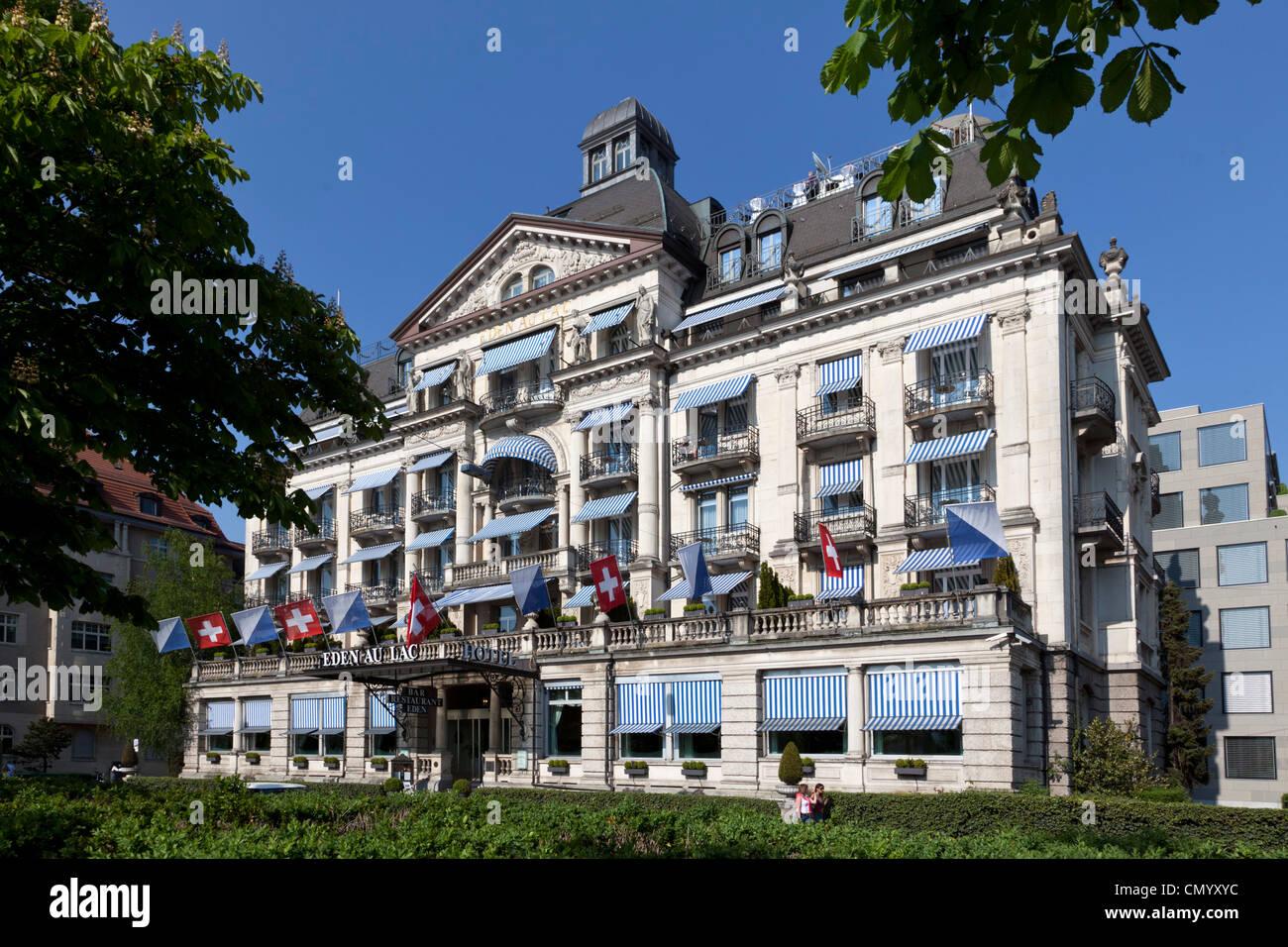 Hotel Eden au Lac, near Zurich lake promande, Zurich, Switzerland Stock Photo