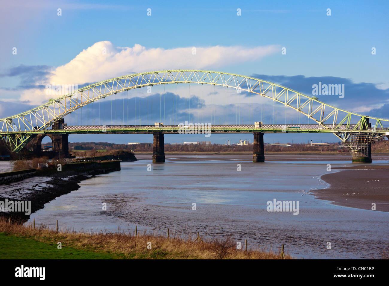 Runcorn Bridge, England - Stock Image