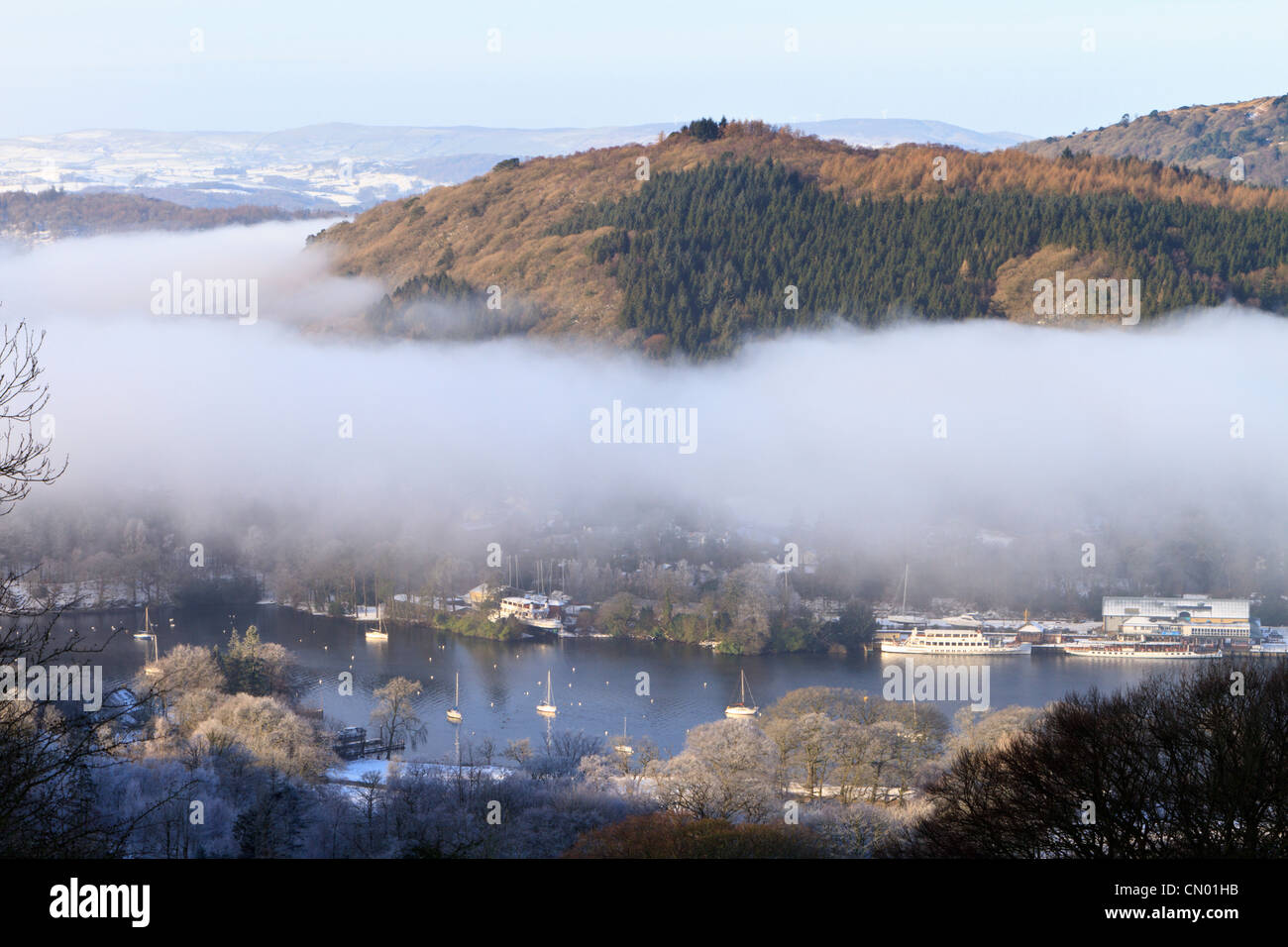 Fell Foot Park in Winter, Lake Windermere, England - Stock Image