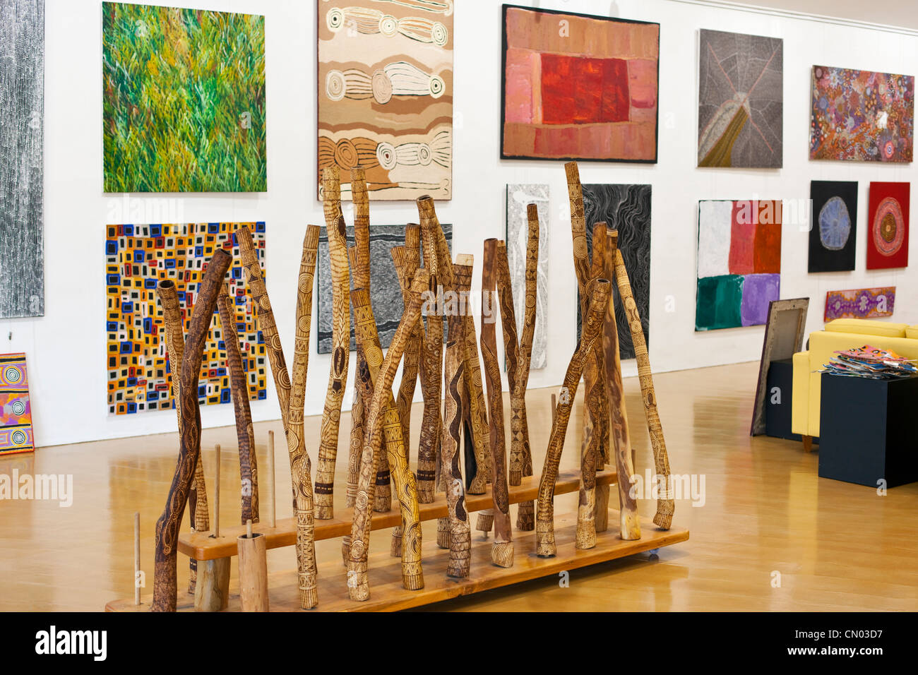 Aboriginal art gallery. Port Douglas, Queensland, Australia - Stock Image