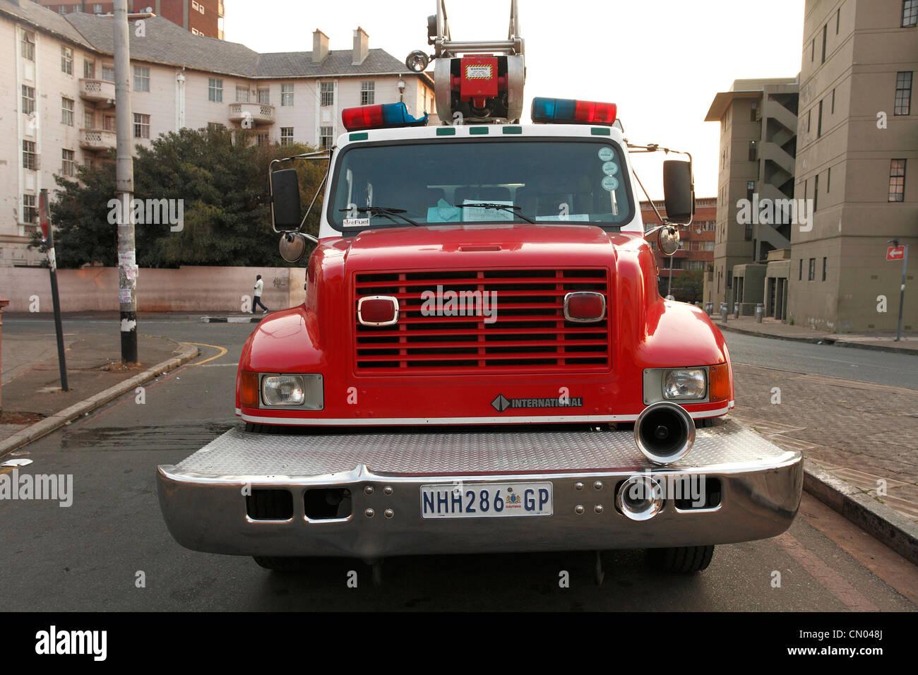 Firetruck in Johannesburg, RSA - Stock Image