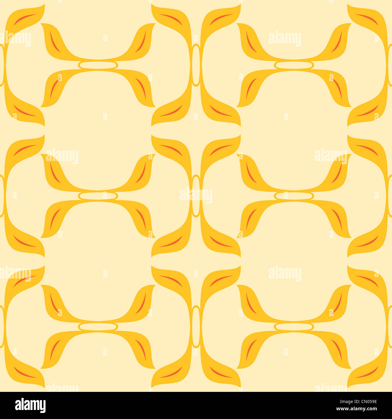 a seamless pattern design of organic shapes depicting garden trail