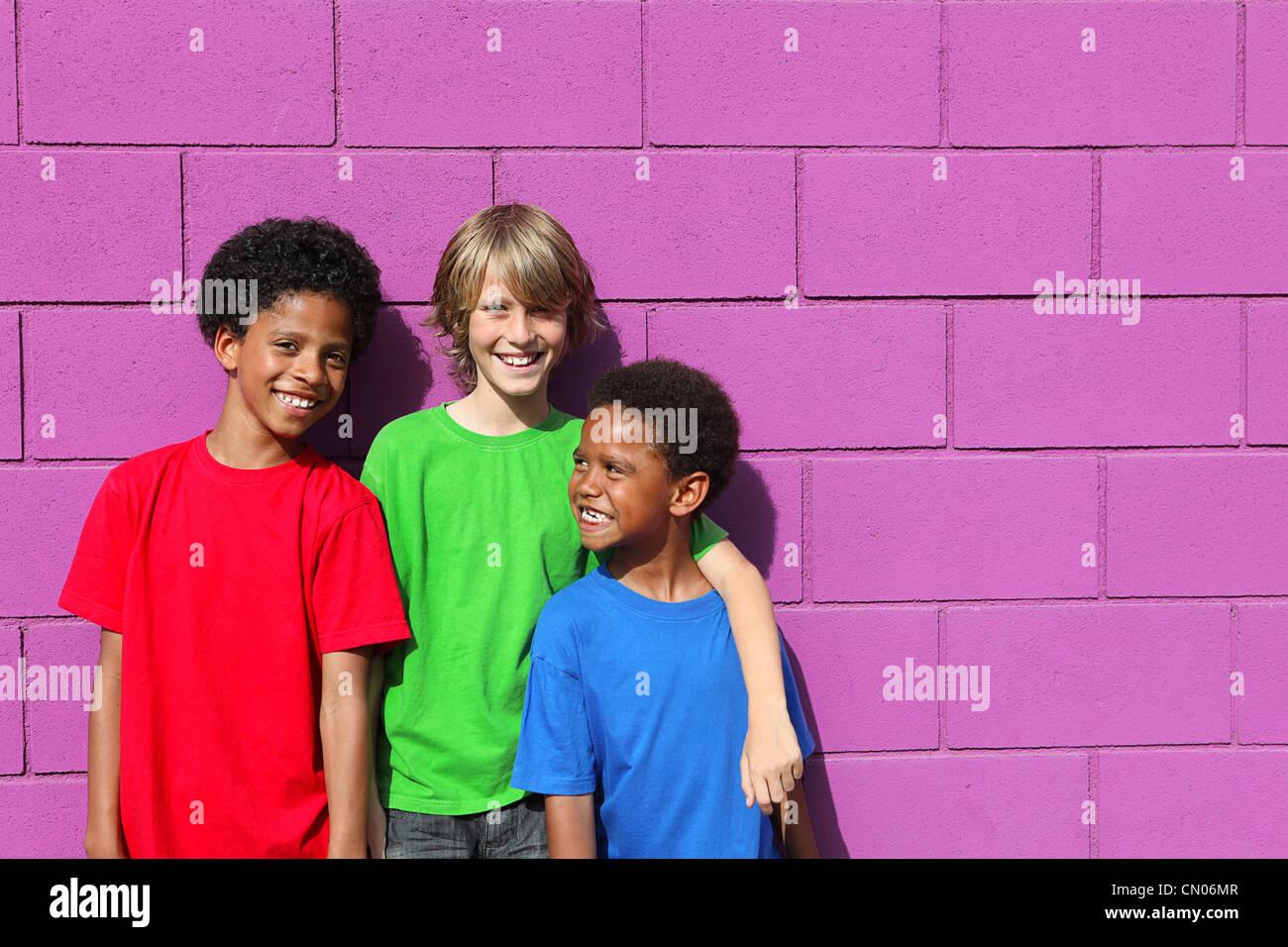 diverse kids - Stock Image