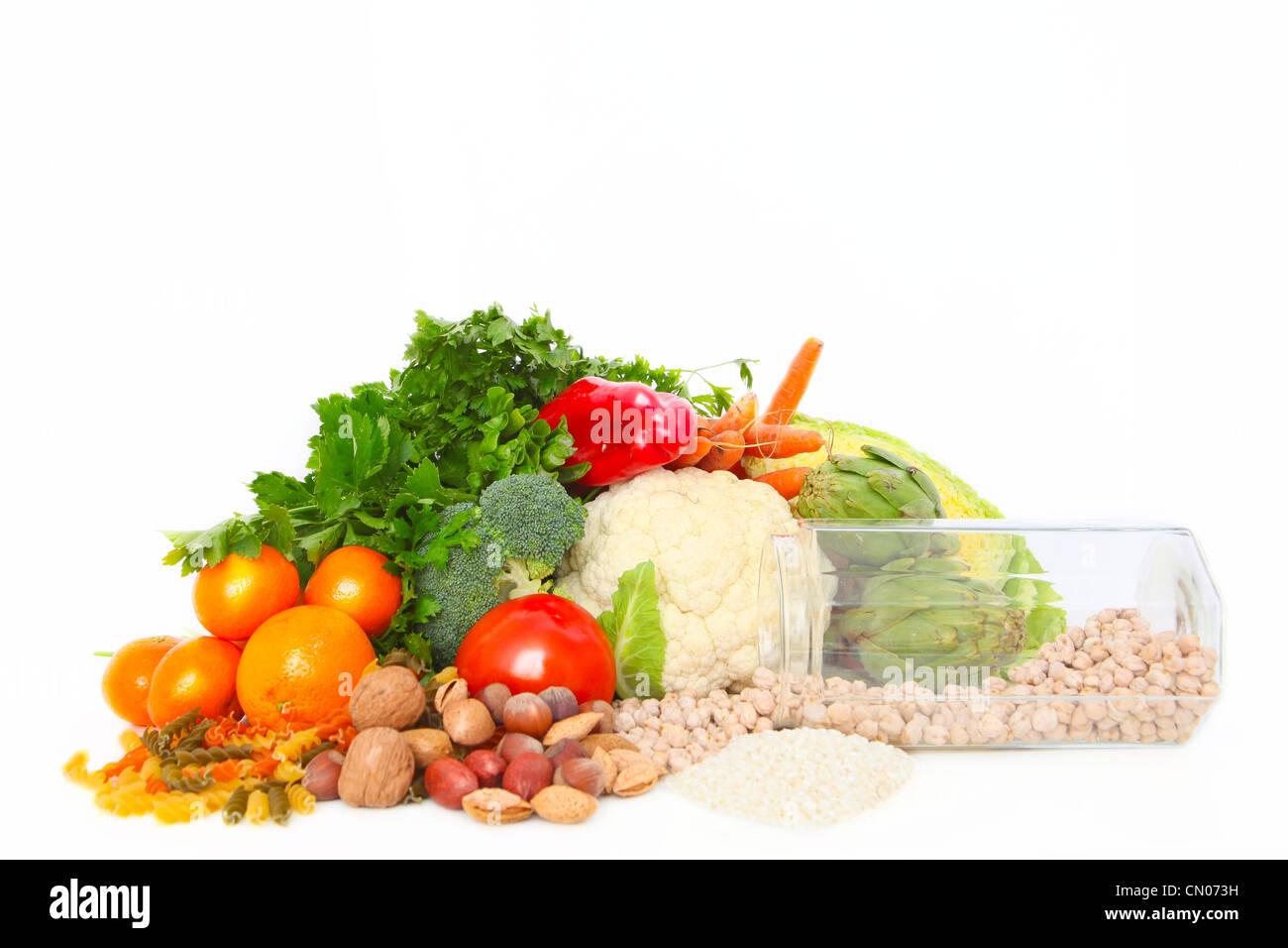 healthy fresh food - Stock Image