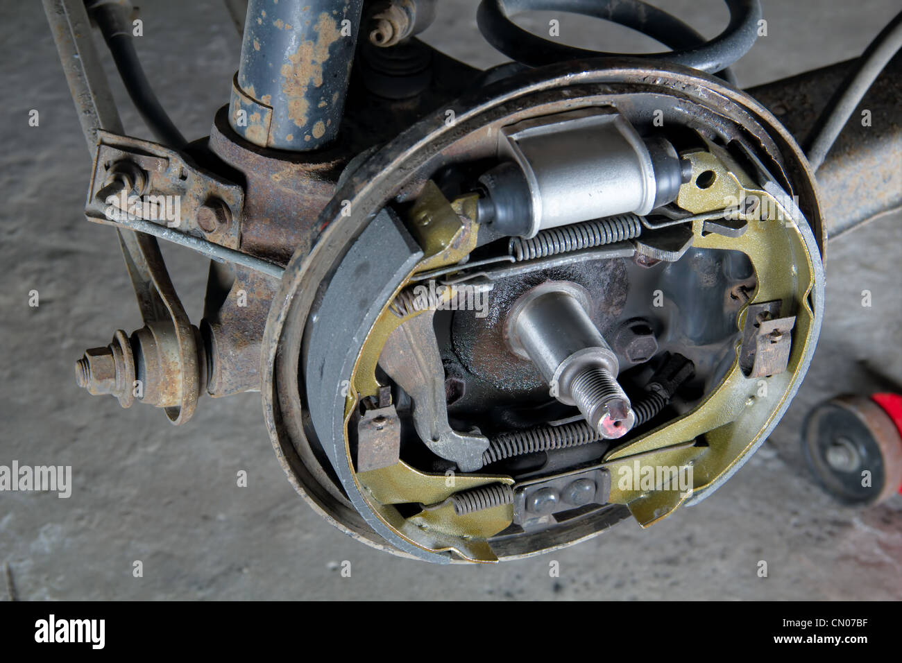 Drum Brakes Stock Photos Images Alamy Disc New Brake Pads And Cylinder Image