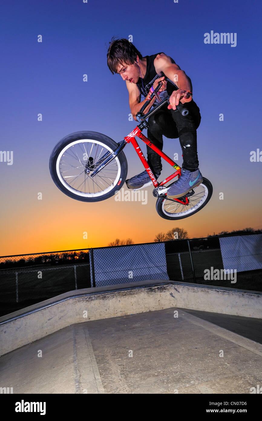 BMX Freestyle Stock Photo