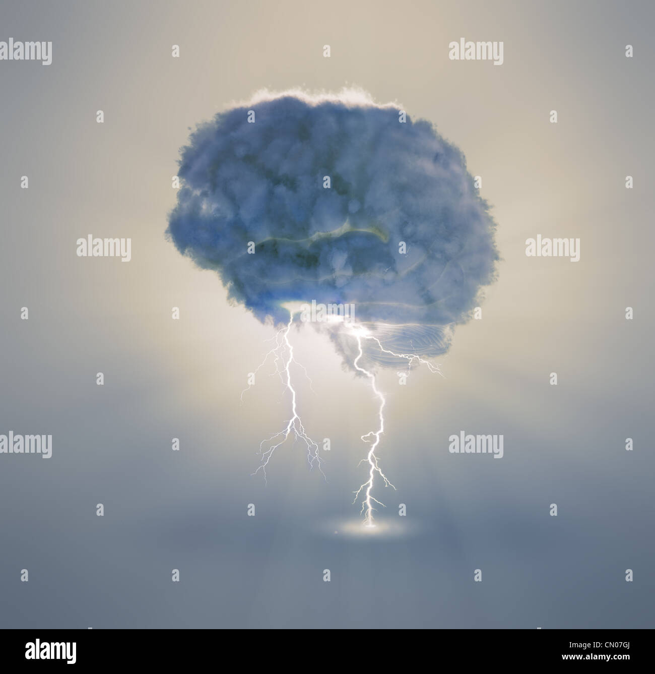 Brainstorming and creativity concept illustration - Stock Image