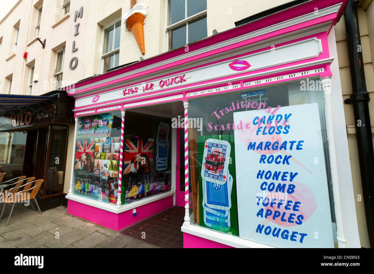 Kiss Me Quick Sweetshop In Margate Kent Stock Photo