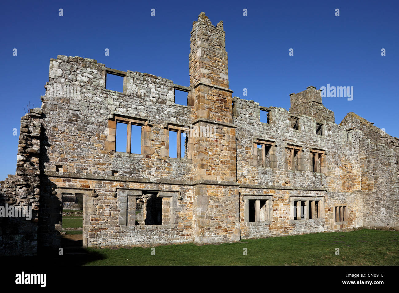 The Remains of the Monks Day Room and Dormitory Area of Egglestone Abbey Near Barnard Castle County Durham UK Stock Photo