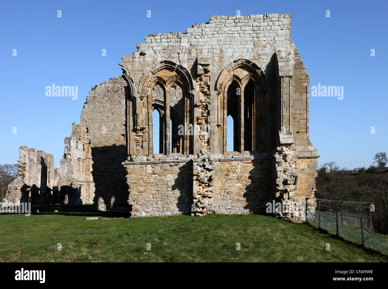 Remains of the Church in Egglestone Abbey Near Barnard Castle County Durham UK - Stock Image