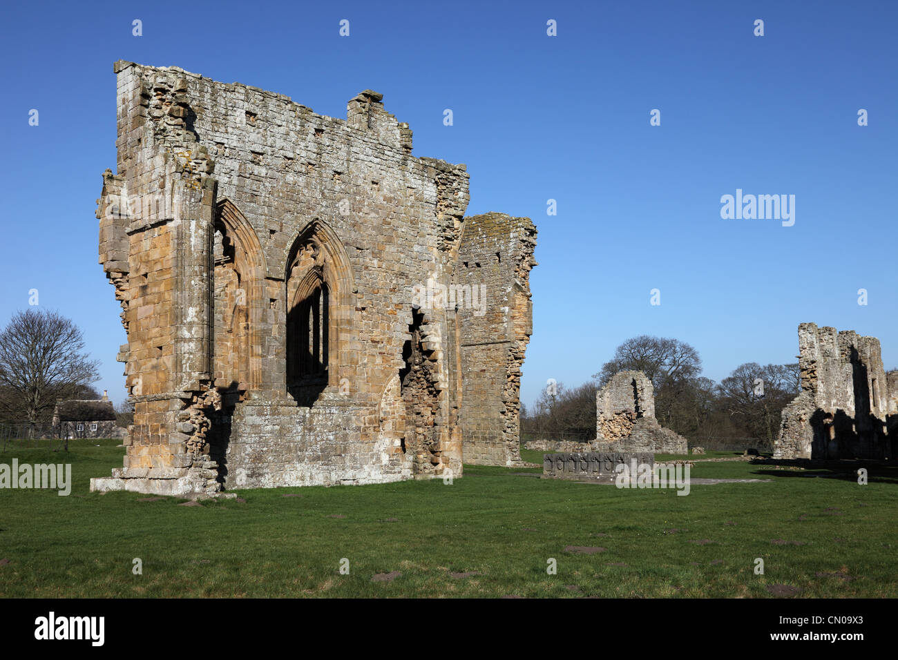 The Remains of Egglestone Abbey Near Barnard Castle County Durham UK - Stock Image