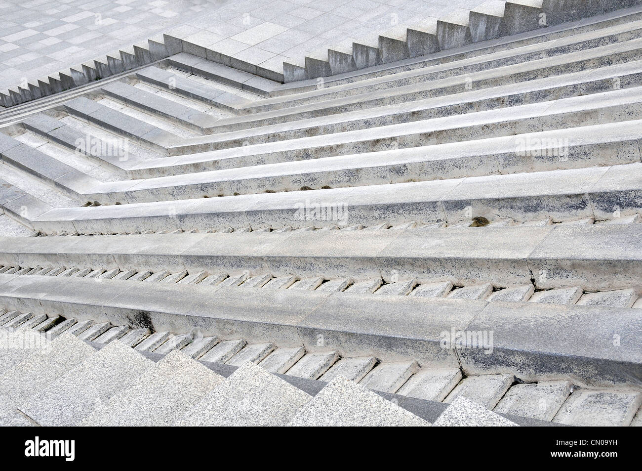 stairs fountain Bercy park Paris France - Stock Image