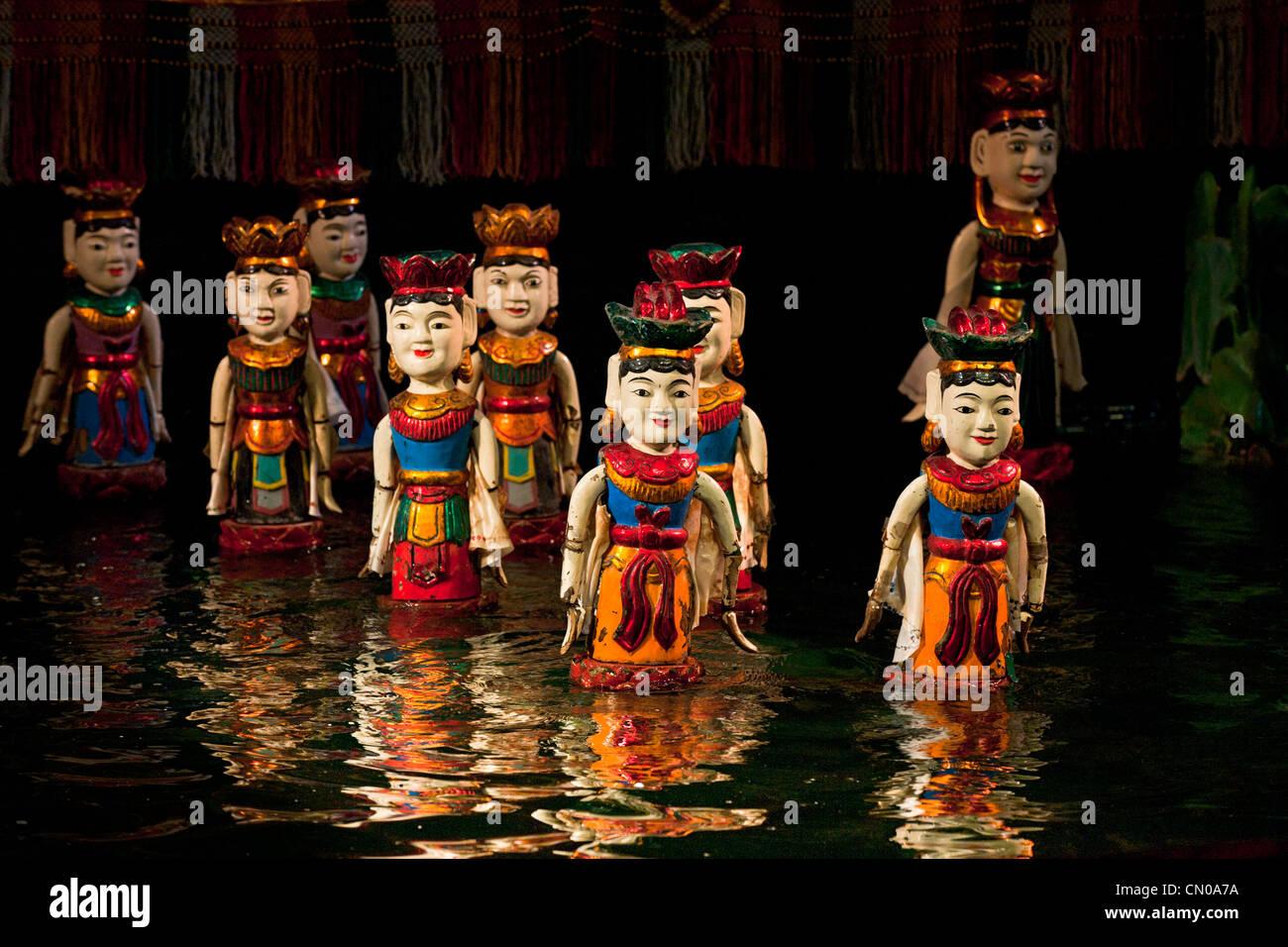 Hanoi water puppets theatre. Vietnam - Stock Image