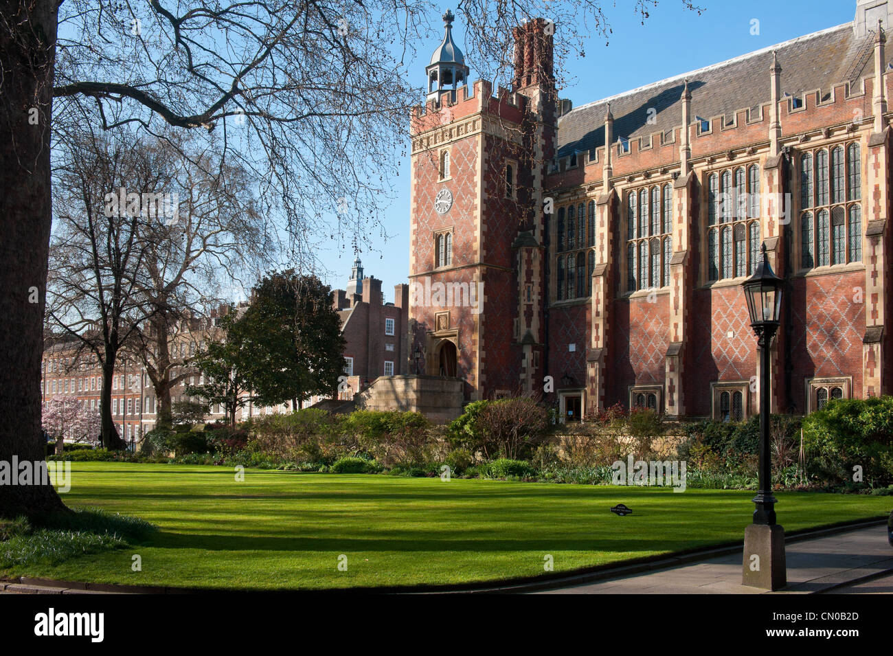 Great Hall and Library at Lincoln's Inn in Holborn, London - Stock Image