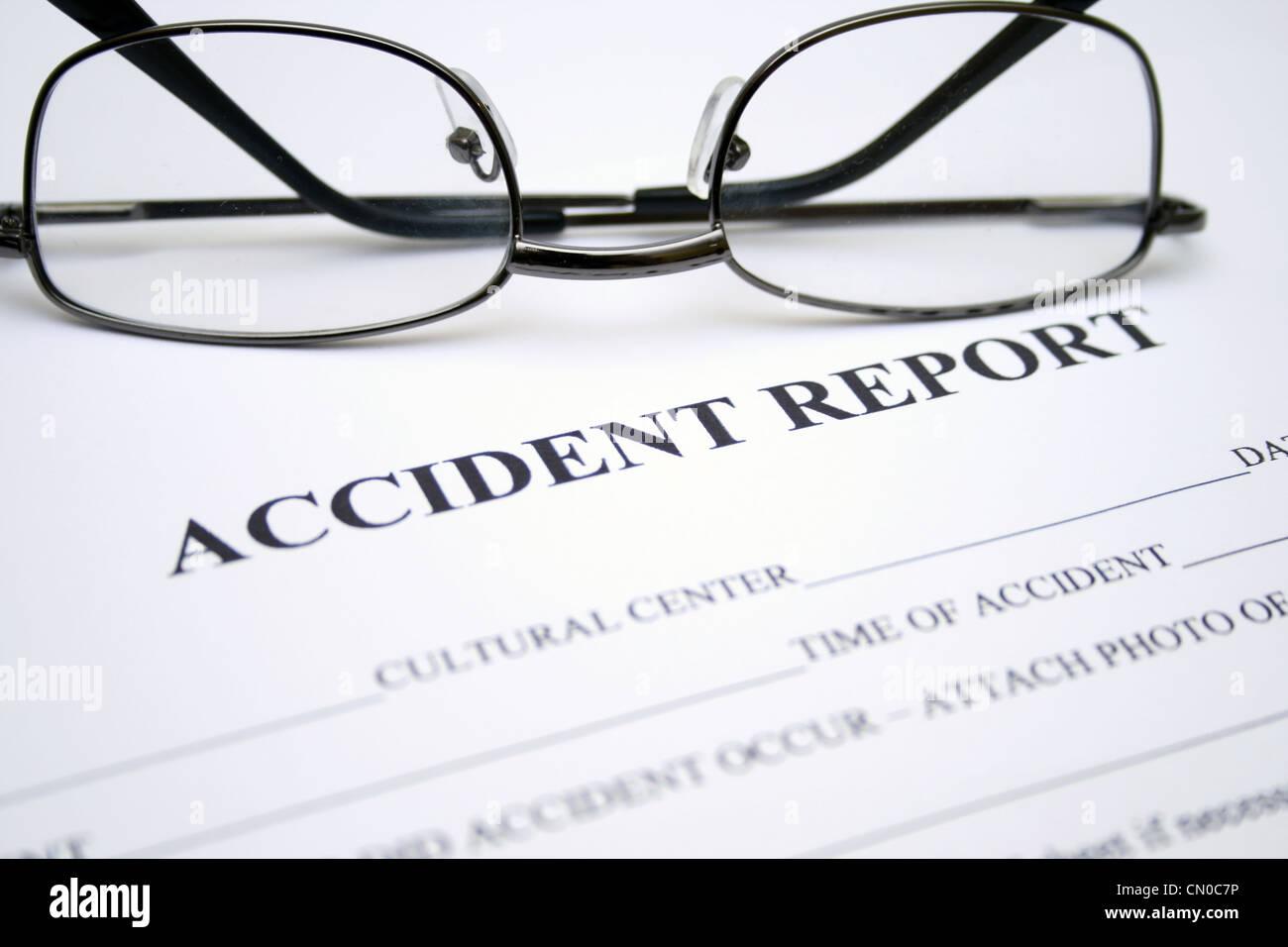 Accident report Stock Photo