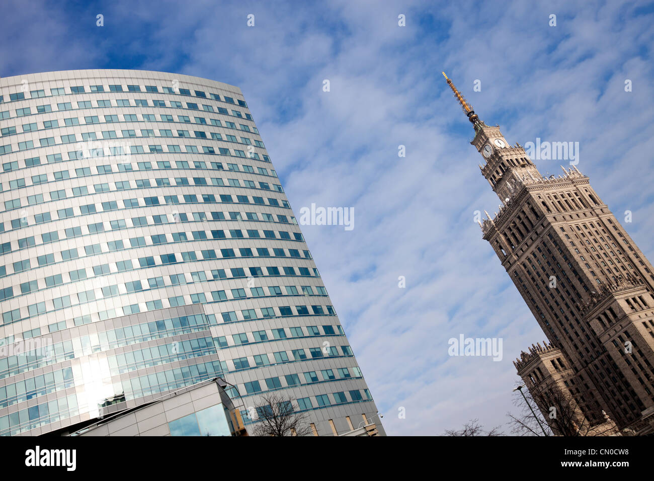 Modern architecture of Warsaw - Stock Image
