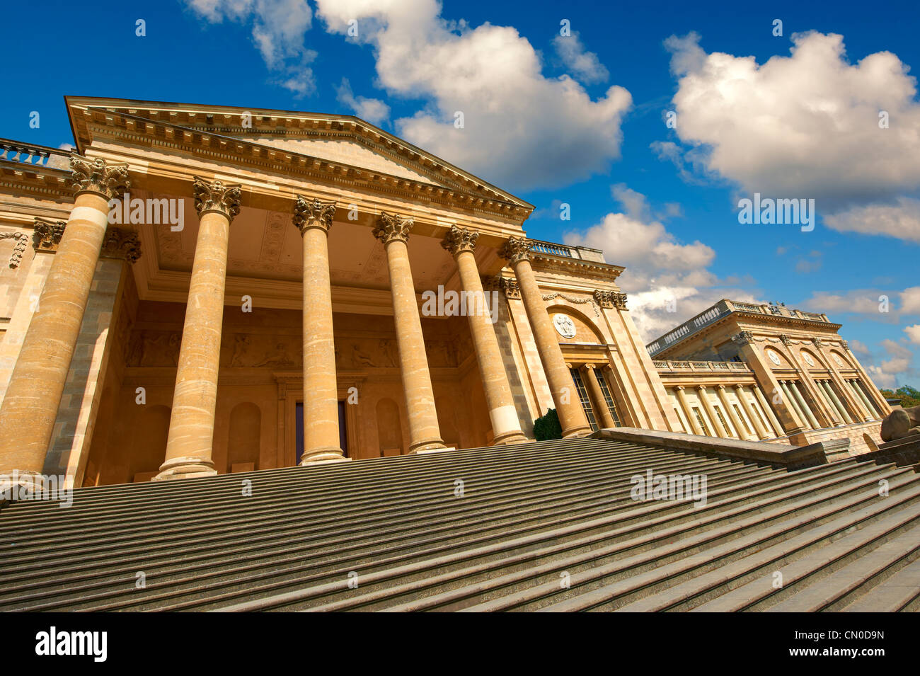 North Front of Stowe House, former residence of the Dukes of Buckingham - Stock Image