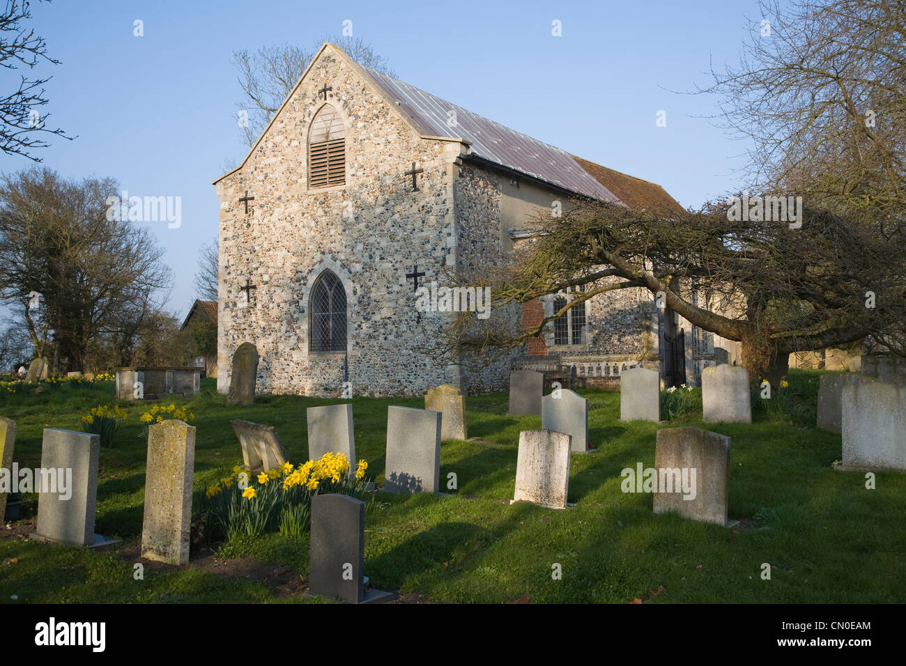 Church of All Saints, Saxted, Suffolk, England - Stock Image
