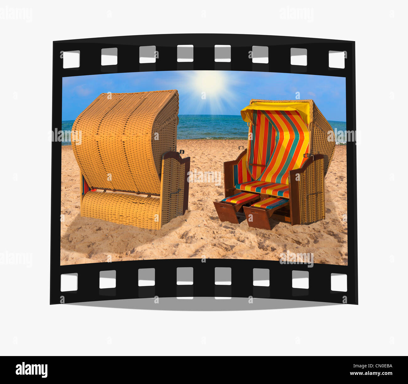 Filmstrip: Baltic Sea Mecklenburg Western Pomerania Germany Europe - Stock Image