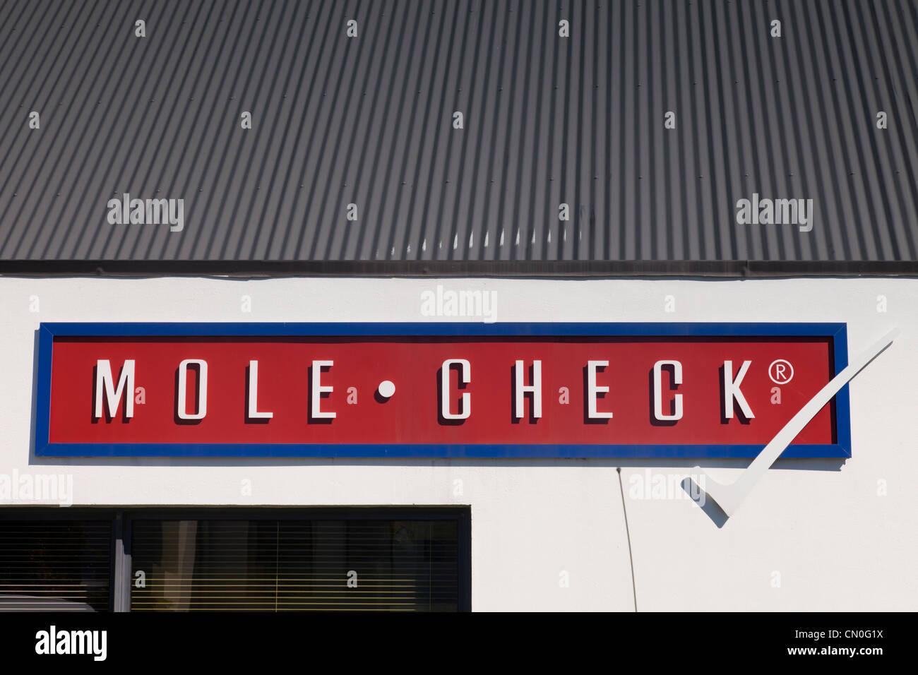 Mole Check Clinic Merivale Christchurch New Zealand - Stock Image