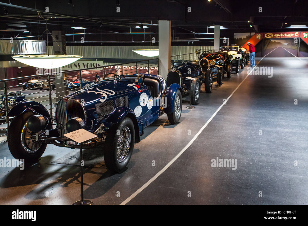 A Line Of Race Cars At The Mullin Museum In Oxnard California Stock - Oxnard car show