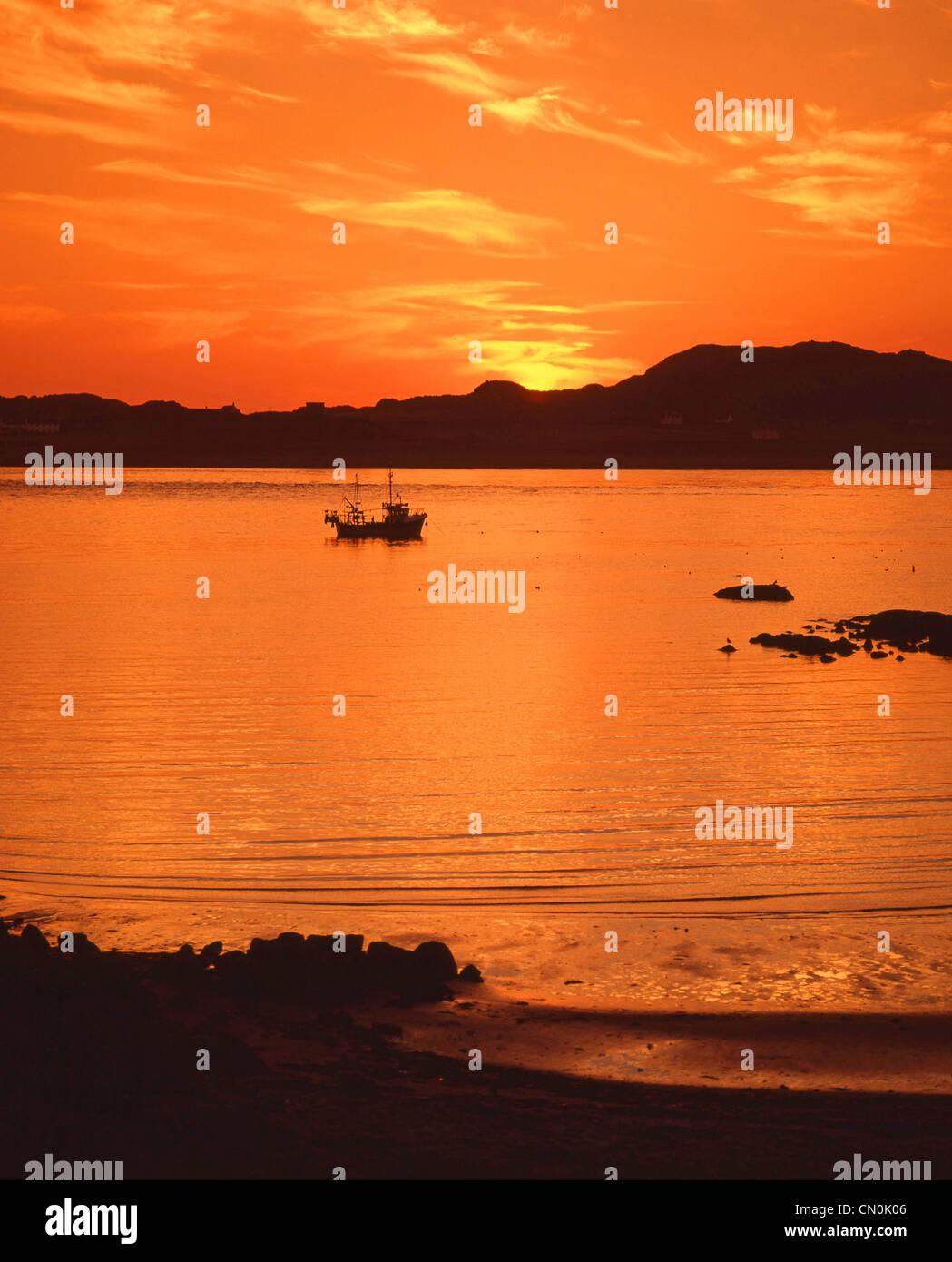 Isle of Mull at sunset, Argyll and Bute, Scotland, United Kingdom - Stock Image