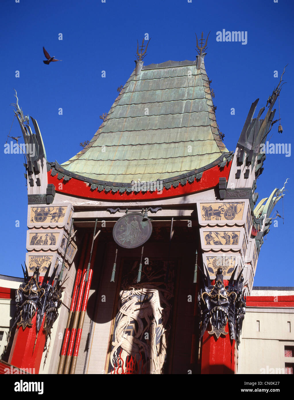 Front entrance of TCL Chinese Theatre, Hollywood Boulevard, Hollywood, Los Angeles, California, United States of - Stock Image