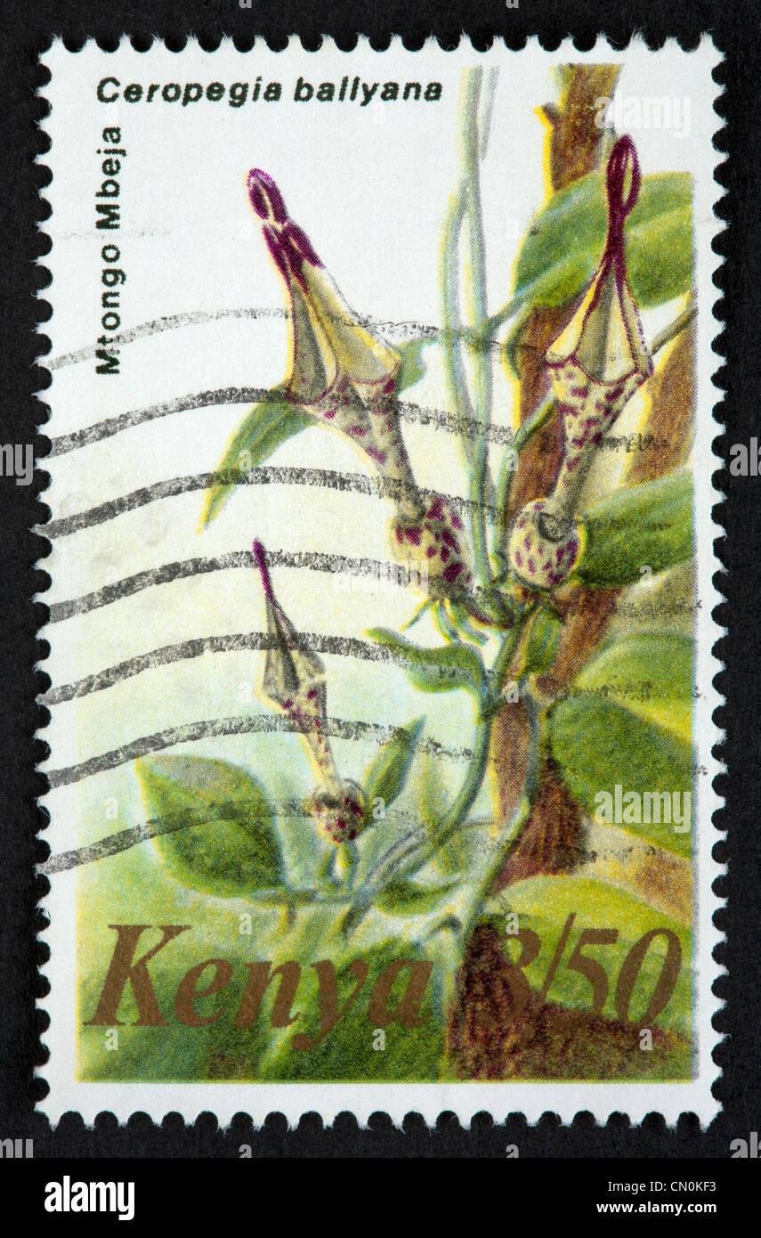 Kenyan postage stamp Stock Photo