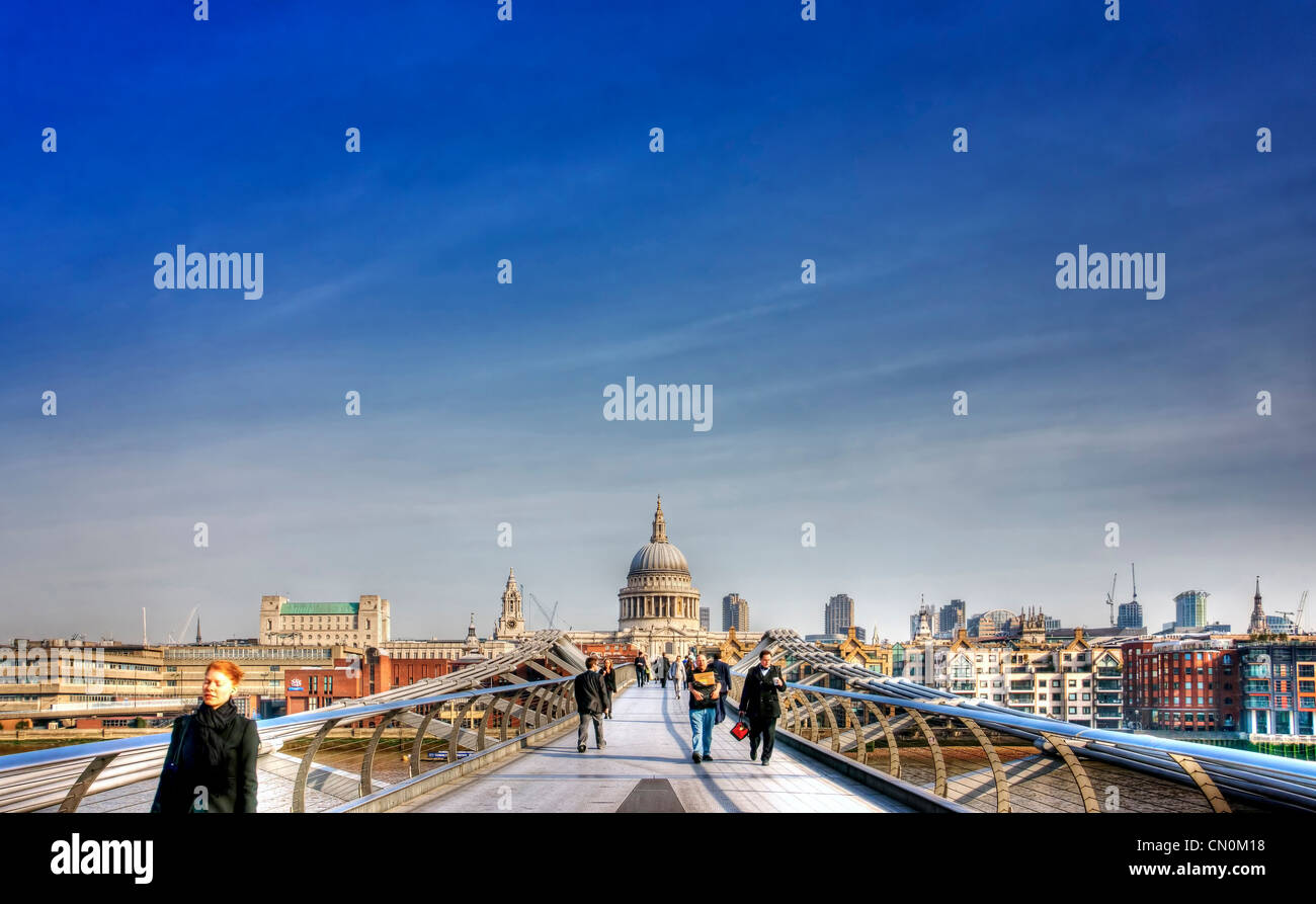 Millennium Bridge. - Stock Image