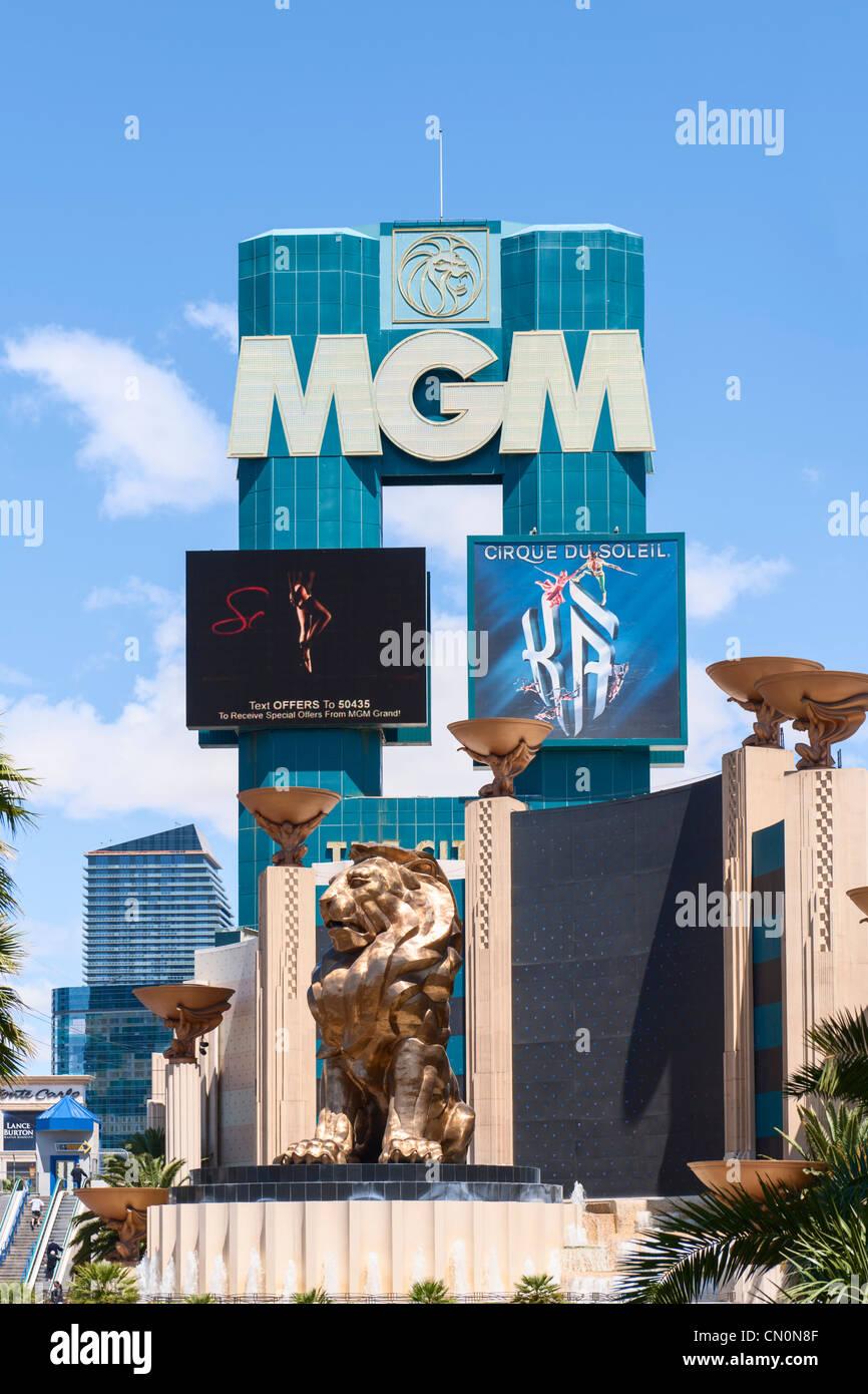 MGM, Las Vegas Paradise - Stock Image
