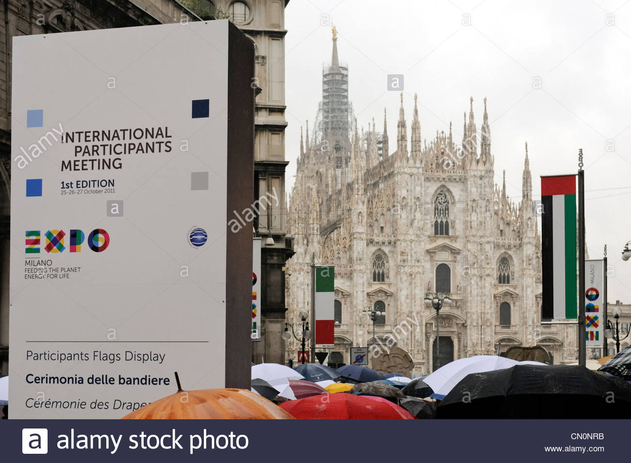 'Expo Milano 2015' International Participants Meeting, 1st edition - Stock Image