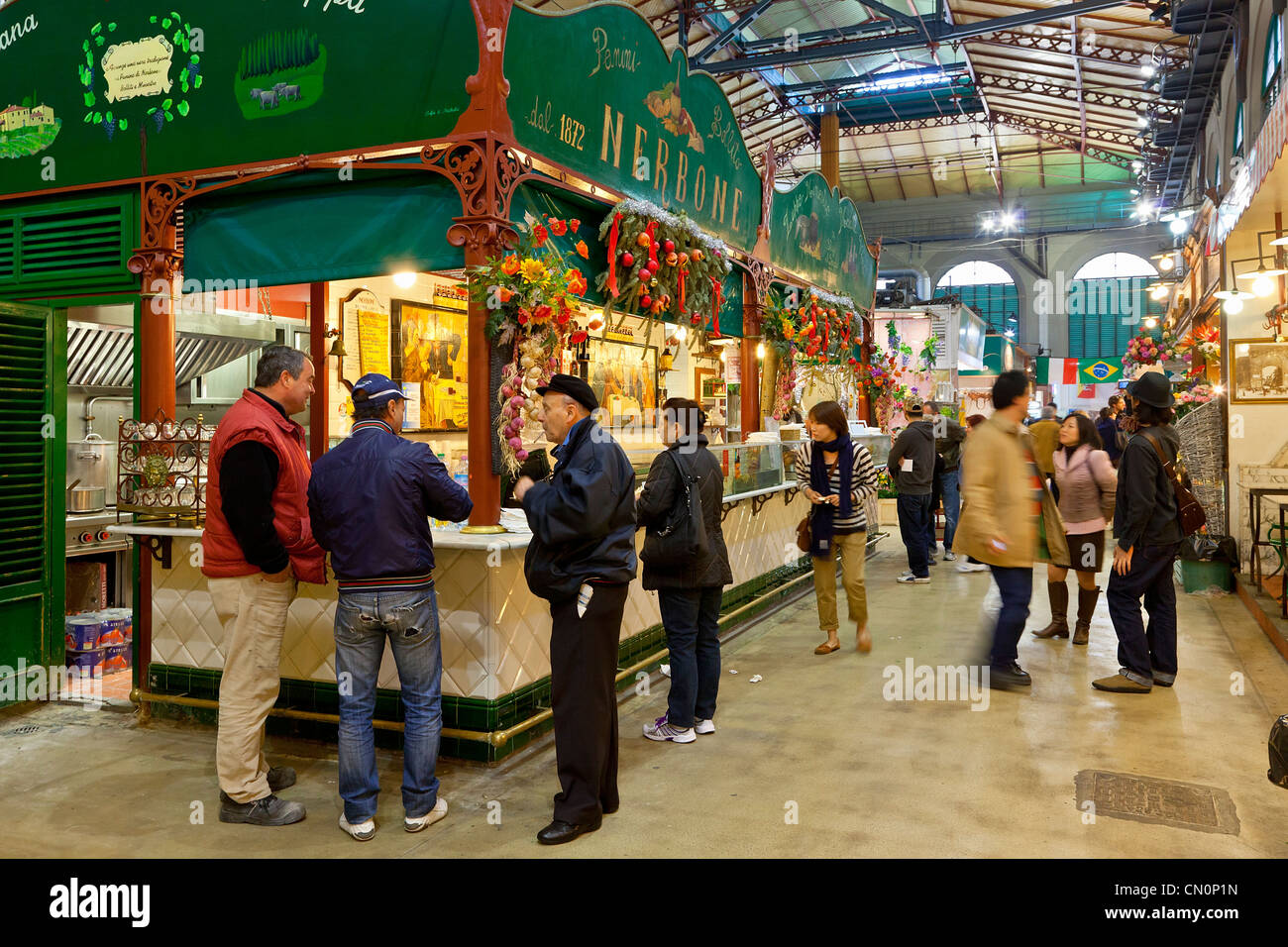 Italy, Florence, Mercato Centrale - Stock Image