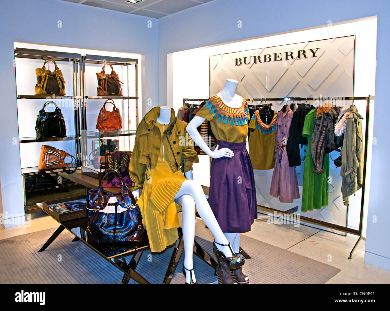 Burberry Le Bon Marché Paris France Fashion department store - Stock Image