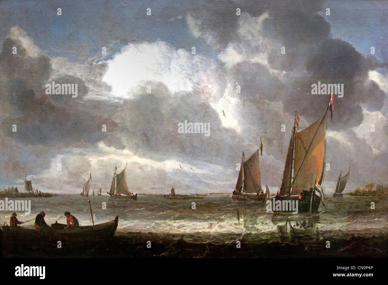 La Marine d'argent - Navy money 1640 by  Abraham van Beyeren Dutch Netherlands - Stock Image