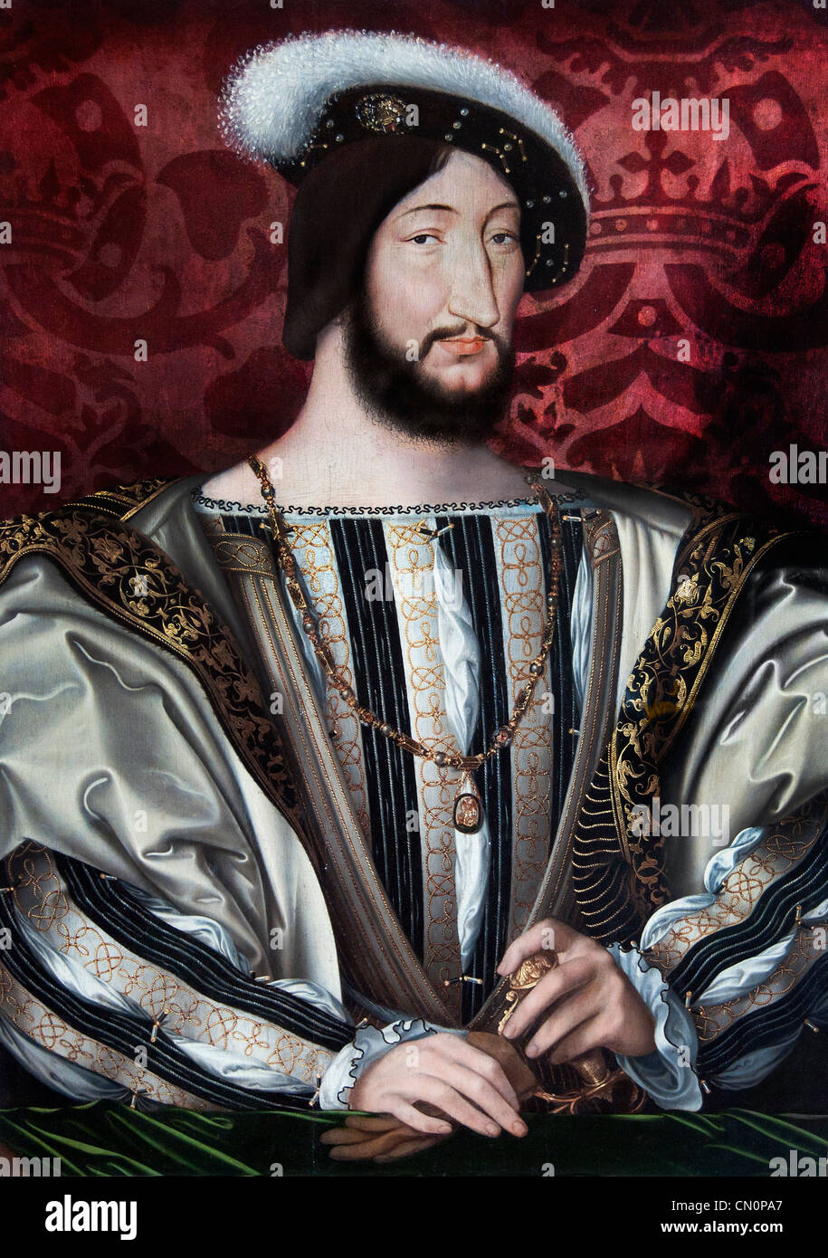 Francois I Roi de France King of France by Jean Clouet French France - Stock Image