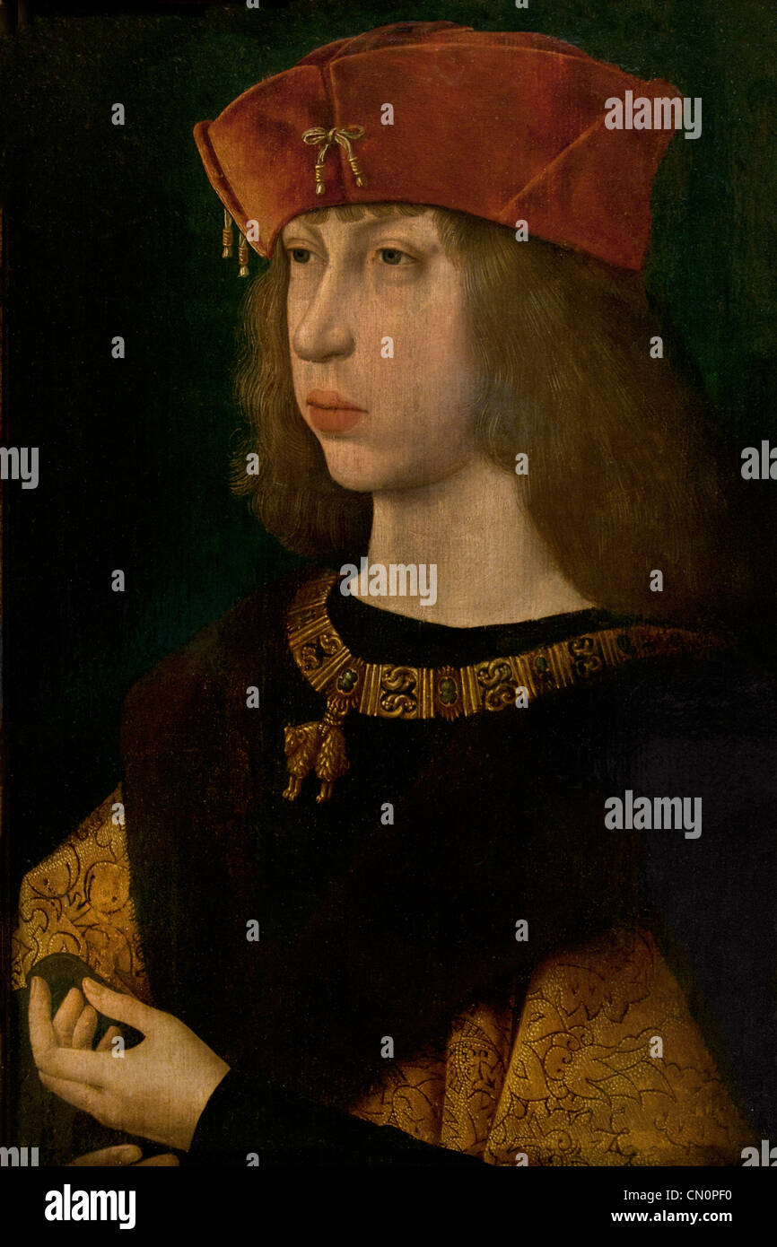 Portrait of Philip the Handsome Archduke of Austria king of Castile 1478 -1506 Master Of The Magdalen Legend  Jacques - Stock Image
