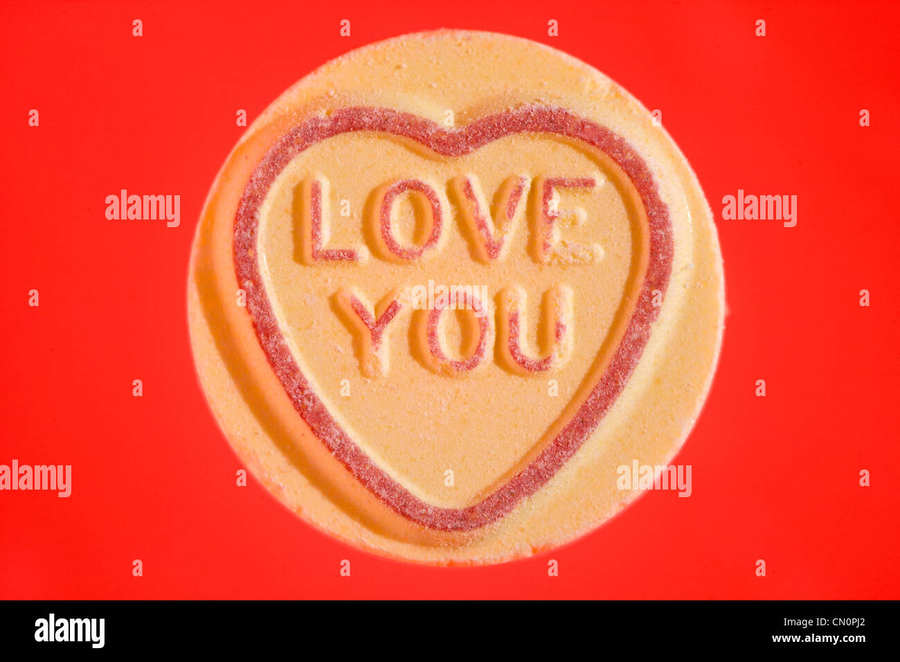 love hearts heart fizzy sweet sweets candy love you stock photo
