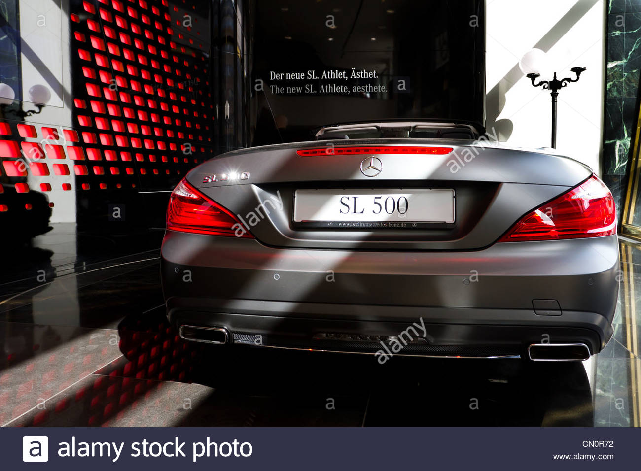The new Mercedes SL 500 - Stock Image