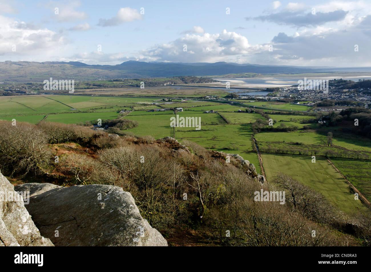 The Aberglaslyn Estuary Porthmadog North Wales Stock Photo