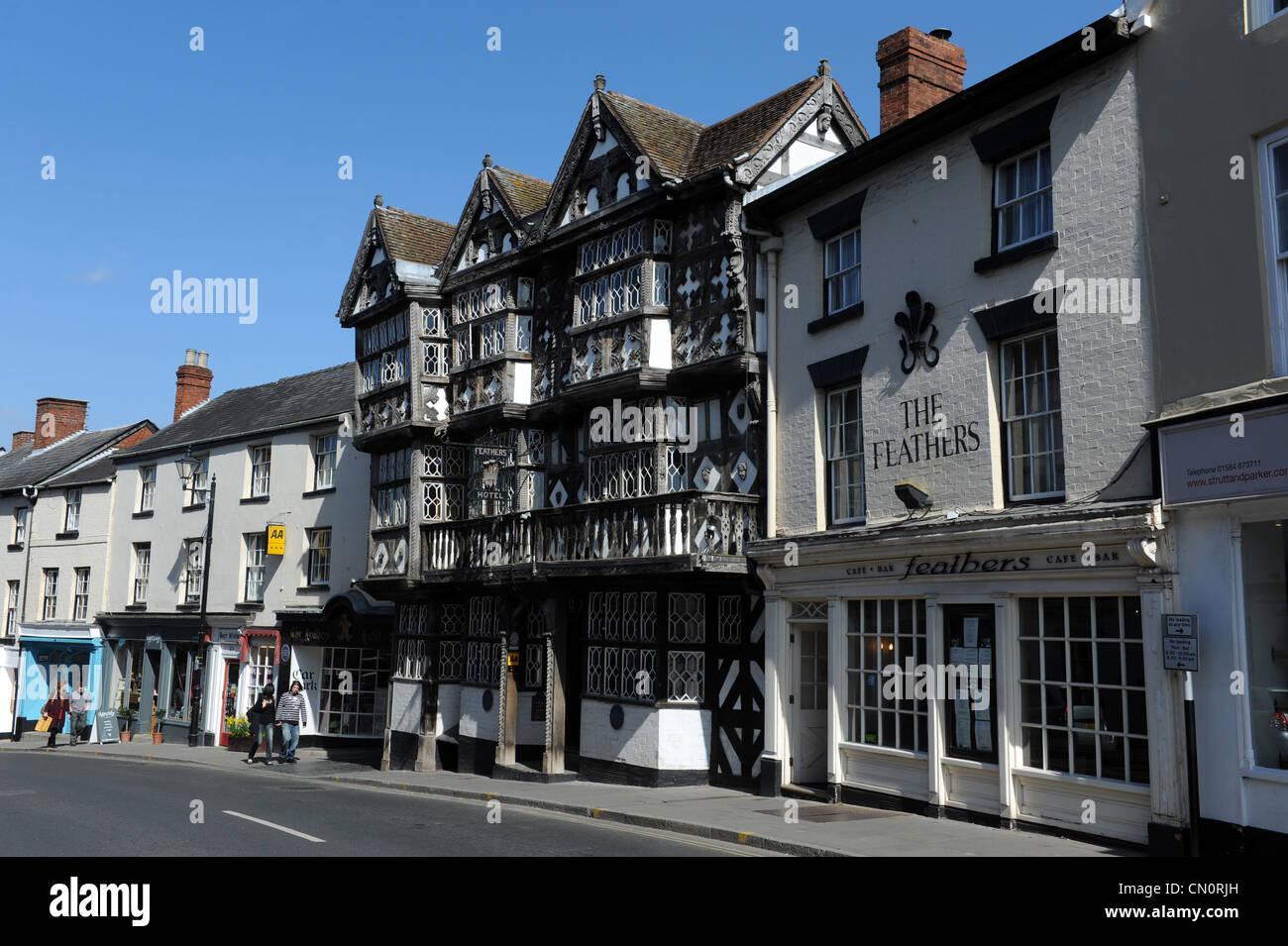 The Feathers Hotel Ludlow Shropshire Uk - Stock Image