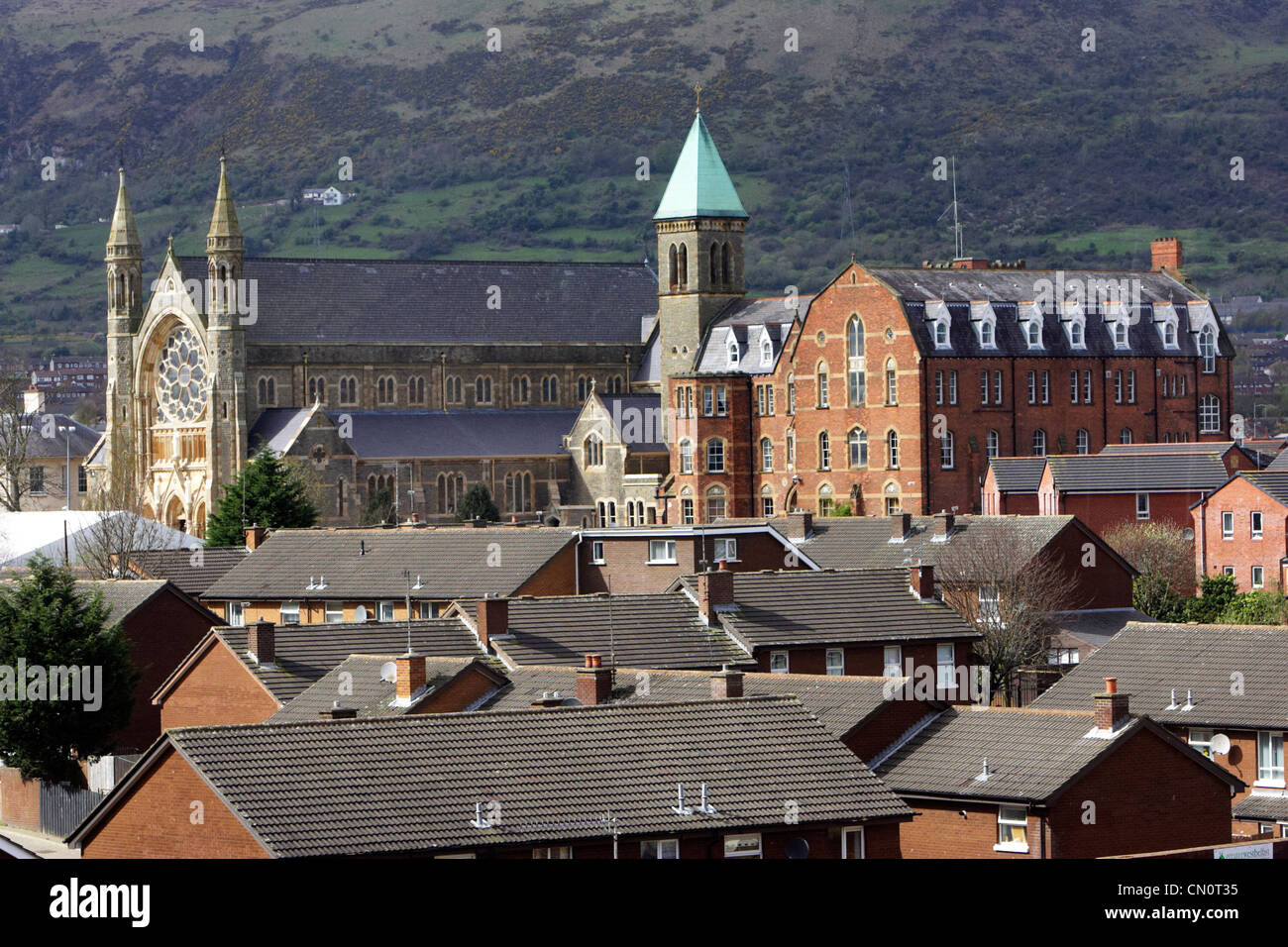 clonard monastery in the middle of west Belfast Northern Ireland UK - Stock Image